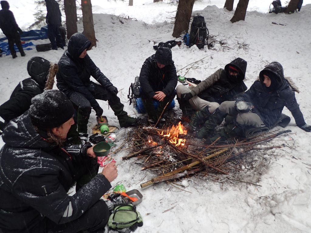 Winterse omstandigheden in Polen